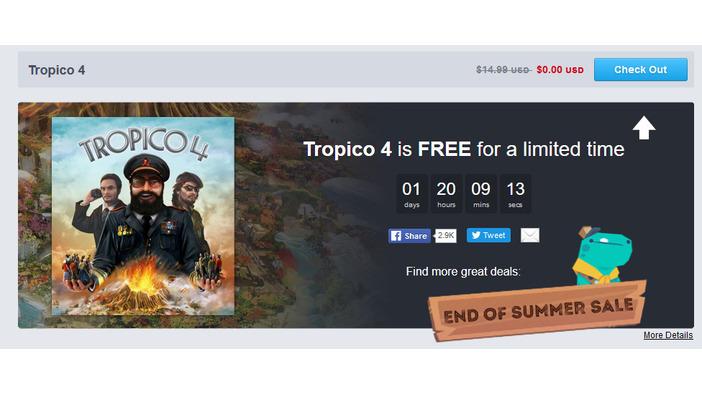 "『Tropico 4』が9月11日まで無料配布、Humble Store""End of Summer""セール開催!   Game*Spark - 国内・海外ゲーム情報サイト"