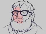 海外アーティストがVR空間にゲイブ・ニューウェル氏を描く!―HTC Vive+『Tilt Brush』