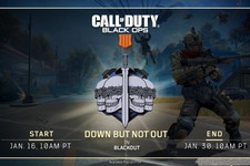 『CoD:BO4』バトルロイヤル「BLACKOUT」リスポーン可能な期間限定モード「Down But Not Out」がPS4先行で開催!