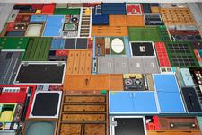 本物の家具や家電を使用して実写『テトリス』を表現するアーティストMichael Johansson氏の作品が凄い 画像