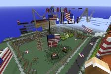 『Minecraft』デンマーク地理庁が国土を再現したワールドで首都爆撃 ― 跡地にはアメリカ国旗 画像