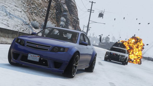 『Grand Theft Auto Online』に冬がテーマのホリデーギフトが配信、クリスマスは一面雪景色に
