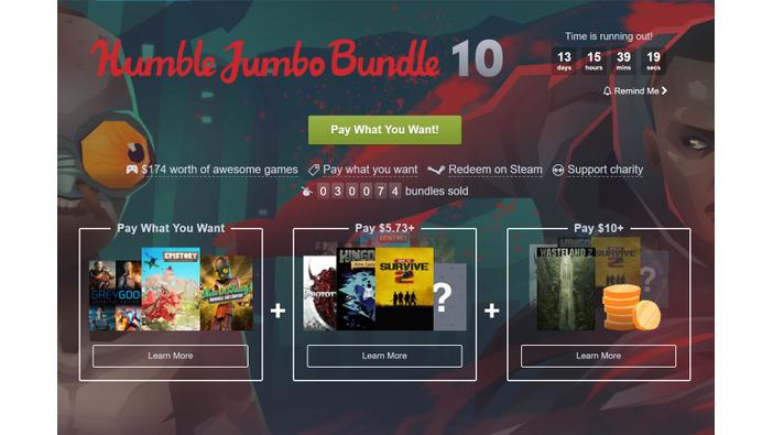 Humble Bundle Update: 『Wasteland 2』等のコアゲーム収録の「Humble Jumbo Bundle 10」が販売【UPDATE