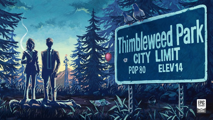 Epic Gamesストアにて高評価ミステリーADV『Thimbleweed Park』が期間限定無料配布!