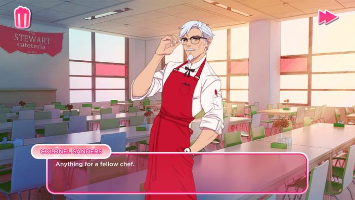 """恋愛相手は…カーネルおじさん!?""""KFC公式""""恋愛シム『I Love You, Colonel Sanders!』発表"""