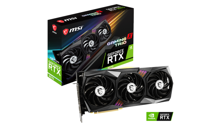 NVIDIA GeForce RTX 3070搭載「GeForce RTX 3070 VENTUS 2X OC」「GeForce RTX 3070 GAMING X TRIO」発売