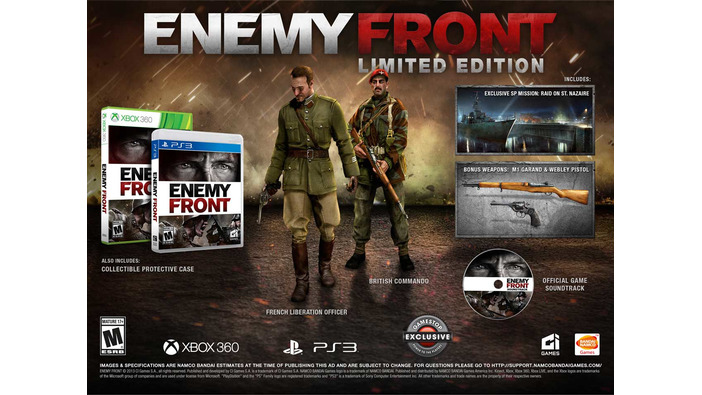 CryENGINE 3を採用したオープンエンドなWWII FPS『Enemy Front』北米版「Limited Edition」を発表