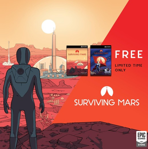 Epic Gamesストアで『Surviving Mars』期間限定無料配布!次回は『Alan Wake's American Nightmare』&『>observer_』