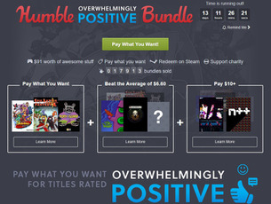 高評価ゲームのSteamキーが1ドルから! 『The Humble Overwhelmingly Positive Bundle』開始