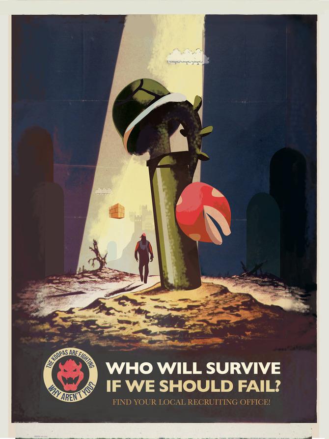 スーパーマリオ』非公式プロパガンダポスター!クッパ軍は君を必要 ...
