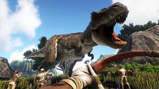 恐竜サバイバル ark で巨大ロボとkaijuが激突 スイッチ版や pixark
