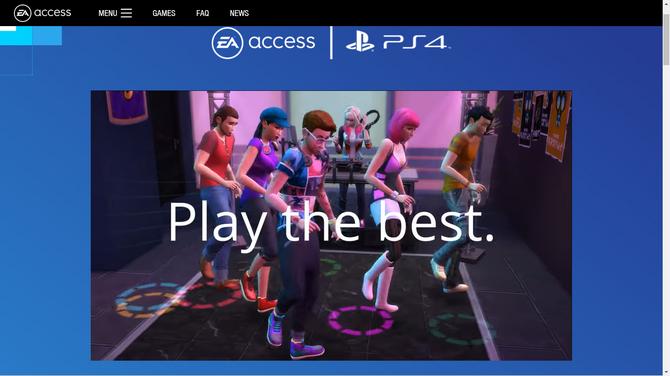 EA、プレミアムメンバーシップ「EA Access」をPS4向けに7月から開始する