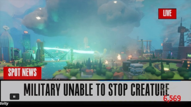 PS4『Dreams』に愛くるしい怪獣ACT「Ruckus: Just another natural disaster」が登場、破壊とギャップに癒やされる…